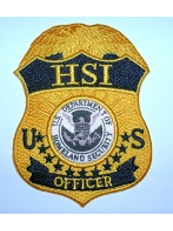HSI OFFICER PATCH UNIFORM STYLE