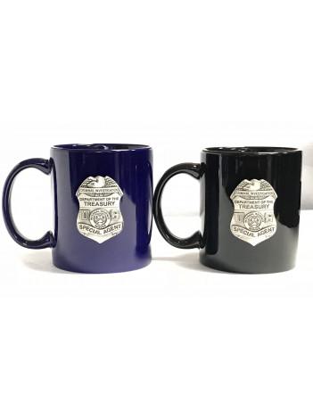 IRS-CI PEWTER COFFEE MUG