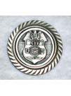 PEWTER MAGNET WITH AGENCY BADGE