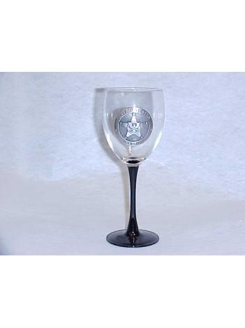 USMS WINE GLASS W/ PEWTER STAR