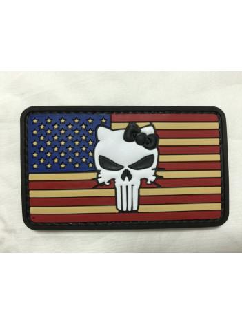 PVC MORALE PATCH VINTAGE FLAG KITTY 6724