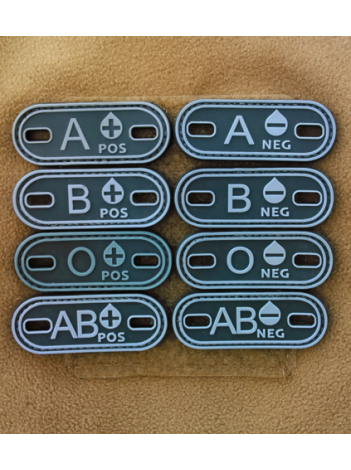 PVC MORALE PATCH BLOOD TYPE