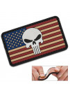 PVC MORALE PATCH VINTAGE FLAG PUNISHER 6722