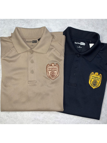 NCIS BADGE ON TACTICAL POLO SHIRT CS410
