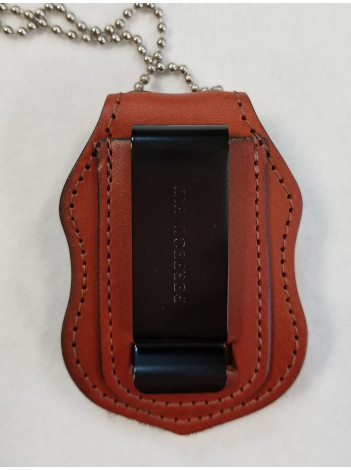 BELT BADGE CLIP IN BROWN, CUT 1339