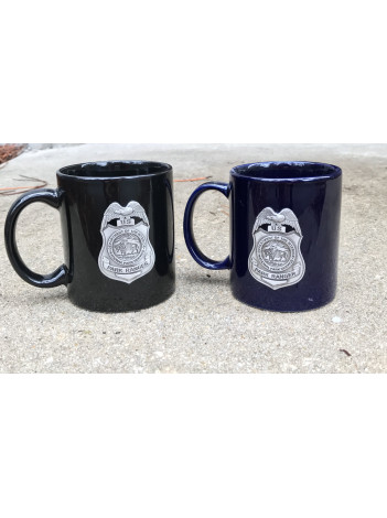 NPS COFFEE MUG WITH PEWTER BADGE