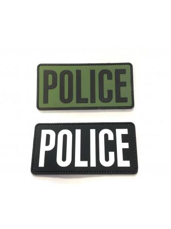 """PVC POLICE PATCH 6""""X 3"""""""