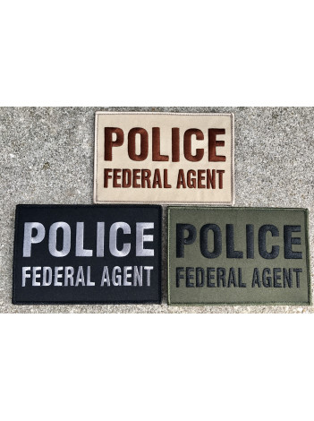 "POLICE FEDERAL AGENT 6 X 4"" PATCH"