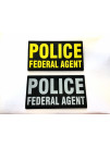 PVC POLICE FEDERAL AGENT PATCH 9X5
