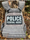PVC POLICE FEDERAL AGENT PATCH SET