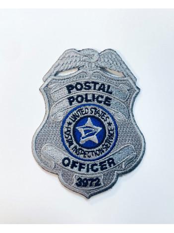 "POSTAL POLICE OFFICER BADGE PATCH 3"""