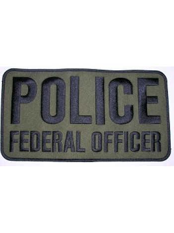 """POLICE FEDERAL OFFICER , 9"""" X 5"""""""