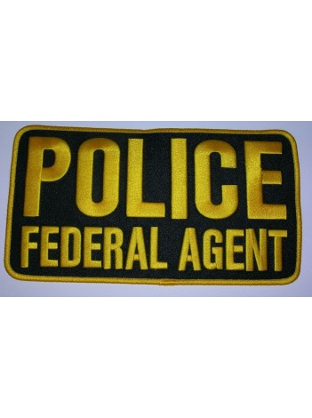 "POLICE FEDERAL AGENT , 9"" X 5"""