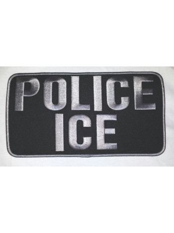 POLICE ICE VEST PATCH 9X5