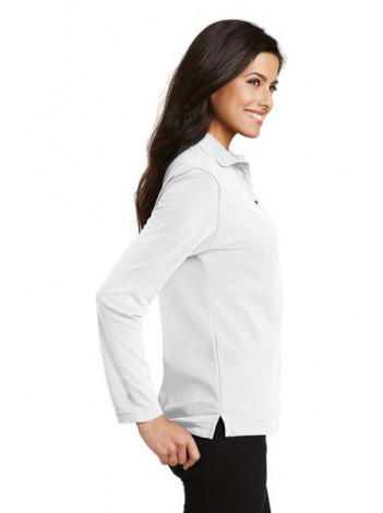AGENCY POLO, LADIES LONGSLEEVE, PORT AUTHORITY L500LS