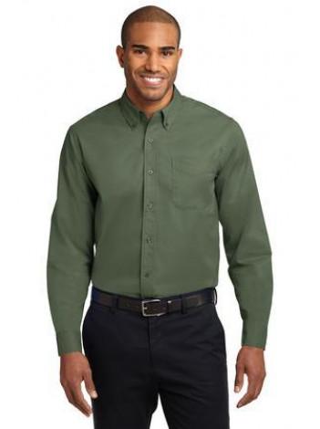 LONGSLEEVE TWILL BUTTON UP DRESS SHIRT, S608