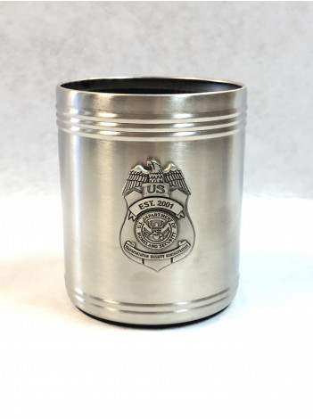 TSA PEWTER CAN COOZIE