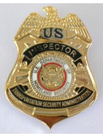 TSA INSPECTOR BADGE REPLICA TIE PIN / LAPEL PIN 8581