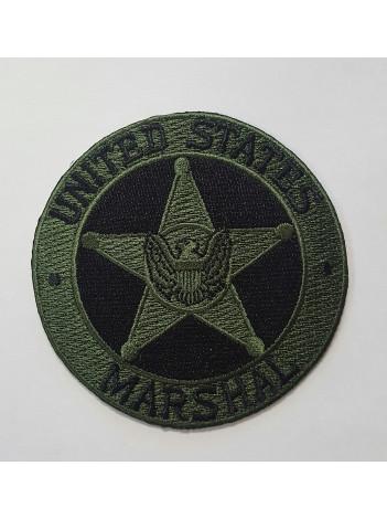 USMS STAR PATCH OD GREEN/ BLACK COLOR