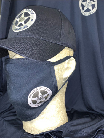COTTON FACE MASK WITH USMS STAR