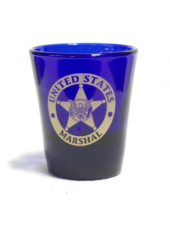 USMS SHOT GLASS W/ USMS STAR