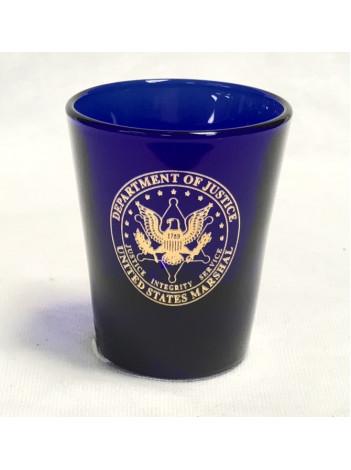 USMS SHOT GLASS W/ USMS SEAL