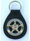 USMS LEATHER BACK KEYRING USMS STAR