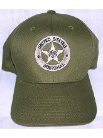 USMS HAT FLEX FIT OD GREEN WITH TAN STAR