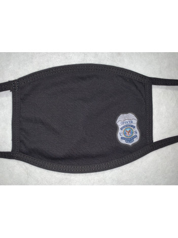 COTTON FACE MASK WITH VA POLICE BADGE