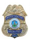 USDA FSIS INVESTIGATOR TIE PIN / LAPEL PIN