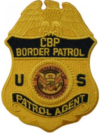 CBP PATROL AGENT BADGE PATCH, GOLD, 5659