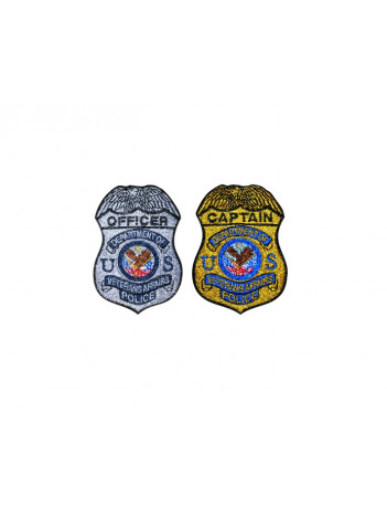 VA POLICE BADGE ON PORT AUTHORITY POLO SHIRT, K500
