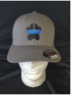 BLUE LINE K-9 PAW FLEX FIT HAT