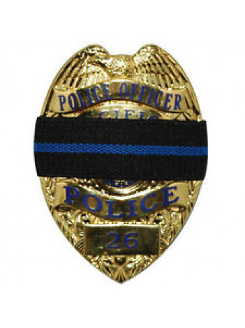 BLUE LINE MEMORIAL BAND FOR BADGE