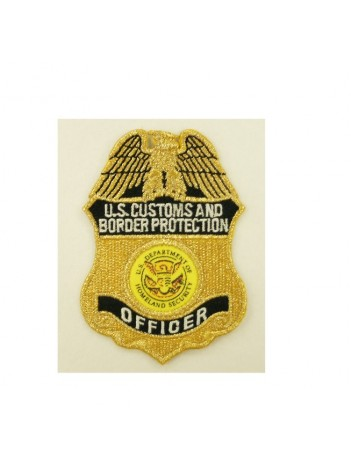 CBP METALLIC GOLD OFFICER BADGE PATCH, 493631