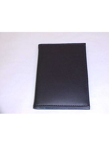 "CREDENTIAL CASE, BLK LEATHER, PLAIN  3"" X 5"""