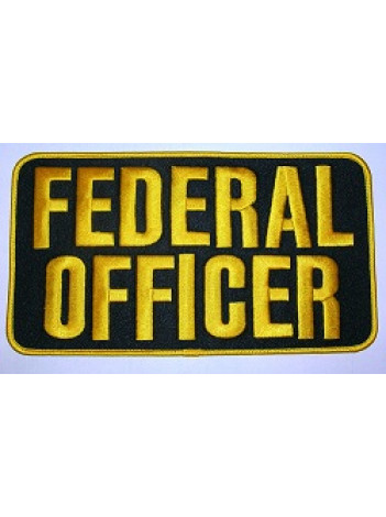 "FEDERAL OFFICER , 9"" X 5"" PATCH"