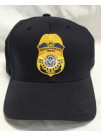FPS FLEX FIT HAT WITH GOLD POLICE BADGE