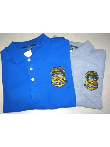 IRS CI BADGE POLO SHIRT, PORT AUTHORITY K420, 143675