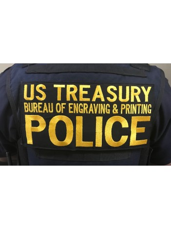 BUREAU OF ENGRAVING AND PRINTING BACK PATCH