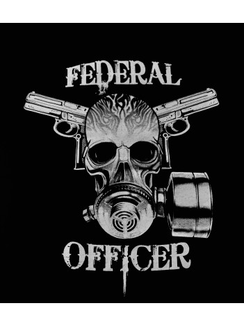 FEDERAL OFFICER SKULL T-SHIRT