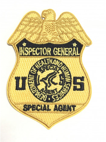 HHS-OIG SPECIAL AGENT BADGE PATCH