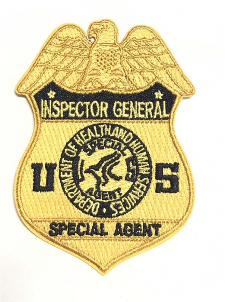 HHS OIG BADGE PATCH