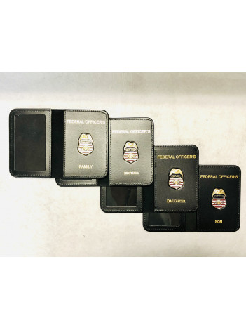 FEDERAL OFFICERS MINI BADGE FAMILY CRED CASE