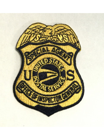POSTAL OIG GOLD BADGE PATCH