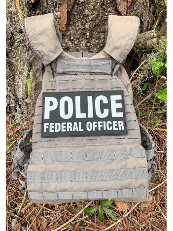 PVC POLICE FEDERAL OFFICER PATCH SET