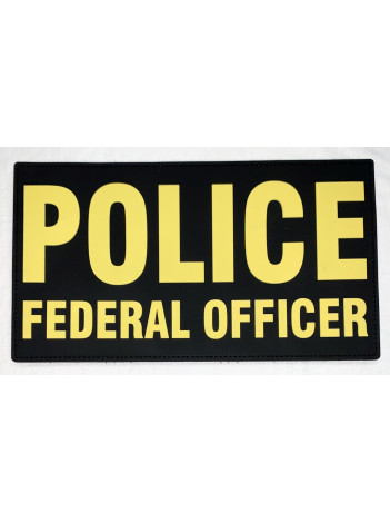 """PVC POLICE FEDERAL OFFICER 6""""X3"""" (MORE COLORS AVAILABLE)"""
