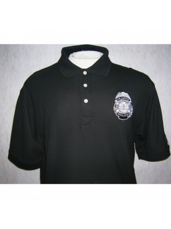 POLO SHIRT WITH USCP BADGE AND FLAG ON SLEEVE IN GREY SUBDUED