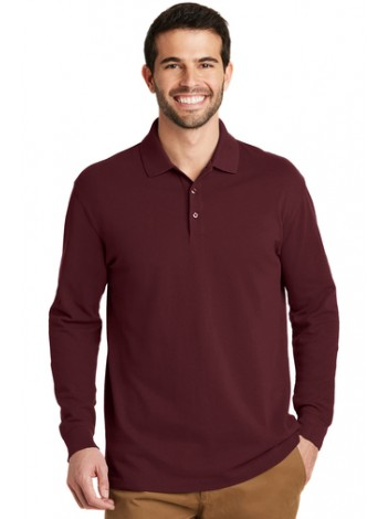 AGENCY LONG SLEEVE POLO SHIRT , PORT AUTHORITY K8000
