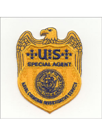 NCIS, 3 1/2 INCH GOLD PATCH, 493681